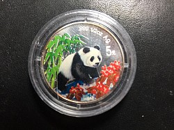 1997 Colored Panda 5 YUAN PROOF